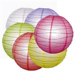Coloured Paper Lantern 40cm  - Pack 12 assorted