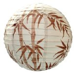 Brown Bamboo Traditional design paper shade 40cm  - Pack 12
