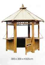 "Larger Bamboo Gazebo ""Nikoro"" 300 x 300cm"