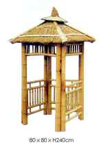 "Bamboo Square Traditional Open Pagoda ""Ukini"" 80 x 80cm"