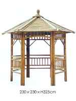 "Bamboo Smaller Traditional Open Pagoda ""Naga"" 230 x 230cm"