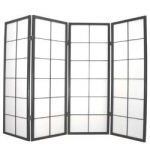 1.2m high Black Classic Screen JW 4 fold