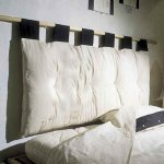 "Futon Bed Head ""Hiriko"" with hanging pole 160cm wide"