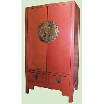 Chinese Wedding Cabinet - Red lacquered - Free Delivery MAINLAND UK