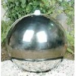 Stainless Steel Sphere Water Feature 30/40/50cm dia - complete with light, pump and reservoir