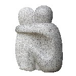 Cuddle - Solid Granite Sculpture - Free Delivery UK