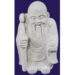 Aged Monk - 45cm - Granite Carving