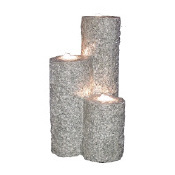 Abiko - 3 Columns of Solid Granite Complete Installation Kit